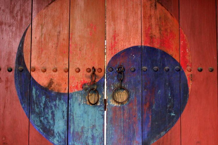 Yin Yang design on Daoist Temple Door